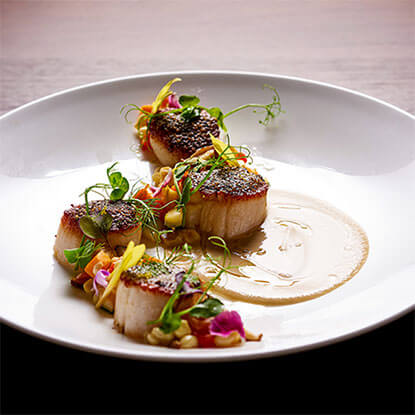 NORI BUTTER CRUSTED DAY BOAT SCALLOPS